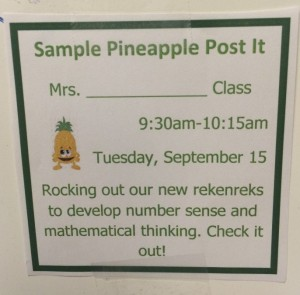 A Sample Pineapple Post It